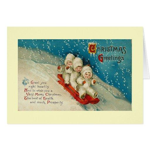 Christmas snow babies card
