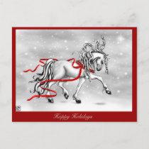Christmas Snow Bells Holiday Postcard