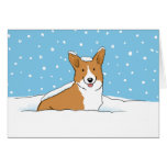 Christmas Snow Corgi Cards