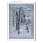 Christmas Snow Covered Trees Card