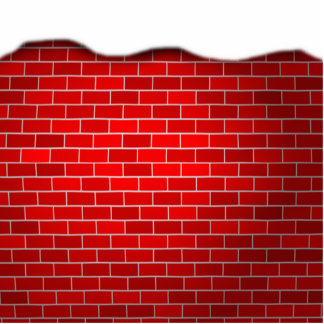 Christmas Snow Drift Red Bricks Background Photo Cut Out