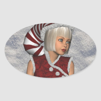 Christmas Snow Elf Sticker