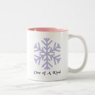 Christmas Snow Flake Two-Tone Coffee Mug