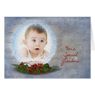 Christmas Snow Globe for Grandma Cards