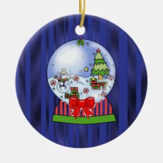 Christmas Snow Globe ornamenr Ceramic Ornament