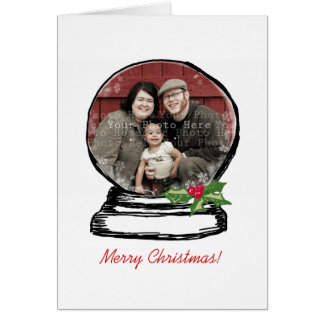 Christmas Snow Globe Photo Card
