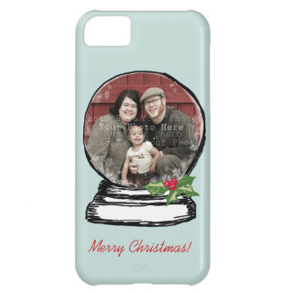 Christmas Snow Globe Photo Case For iPhone 5C