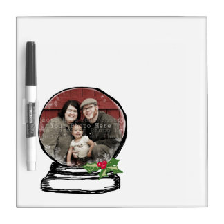 Christmas Snow Globe Photo Dry Erase Board