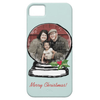 Christmas Snow Globe Photo iPhone SE/5/5s Case
