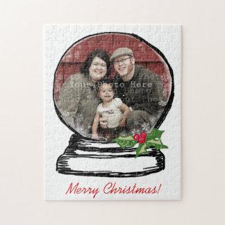 Christmas Snow Globe Photo Jigsaw Puzzle
