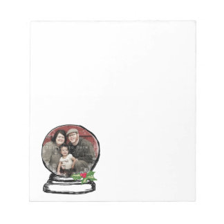 Christmas Snow Globe Photo Notepad