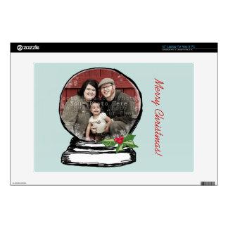 Christmas Snow Globe Photo Laptop Decal