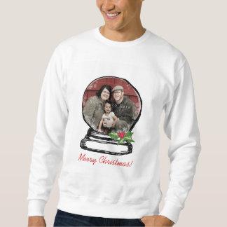 Christmas Snow Globe Photo Sweatshirt