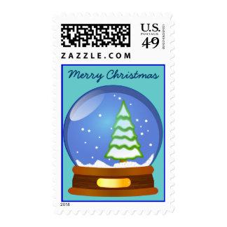 Christmas Snow Globe Stamp