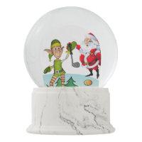 Christmas Snow Globe, Santa Golf Snow Globe