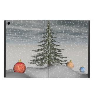 christmas snow iPad air cases