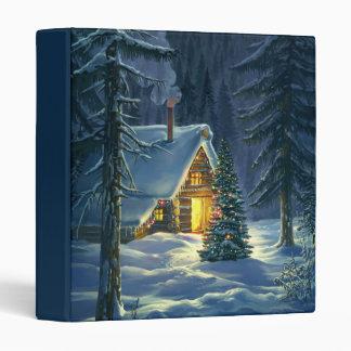 Christmas Snow Landscape Binder