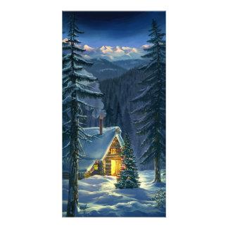 Christmas Snow Landscape Photo Card