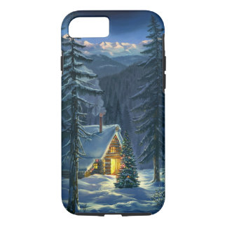 Christmas Snow Landscape Tough iPhone 7 Case