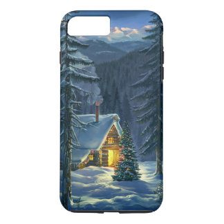 Christmas Snow Landscape Tough iPhone 7 Plus Case