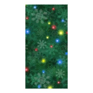Christmas Snow Lights Card