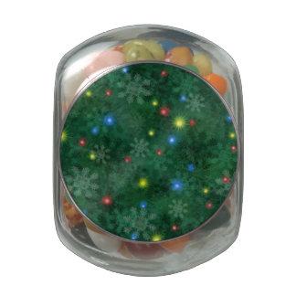 Christmas Snow Lights Glass Jar