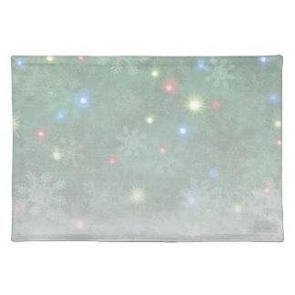 Christmas Snow Lights II Cloth Placemat