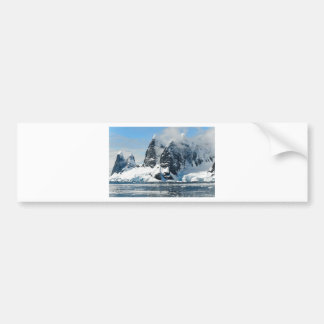 Christmas snow mountains bumper sticker