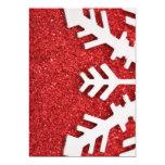 "Christmas Snow Ornament 5"" X 7"" Invitation Card"