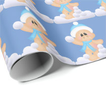 Christmas snow pig pattern wrapping paper