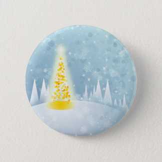 Christmas Snow Pinback Button