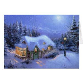 """Christmas Snow Scene"" Greeting Card"