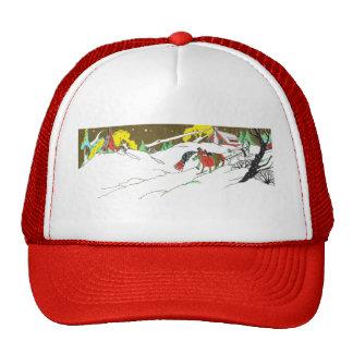 Christmas Snow Scene Trucker Hat
