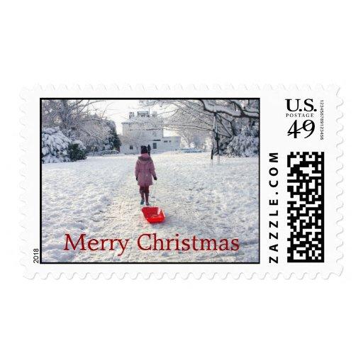 Christmas Snow Stamp