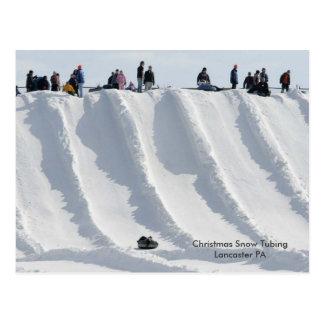 Christmas Snow Tubing Lancaster PA Postcard