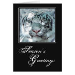 Christmas Snow White Tiger Card