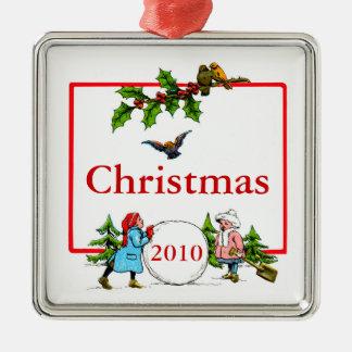 Christmas Snowball Metal Ornament