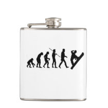 Christmas snowboard evolution snowboarding flask