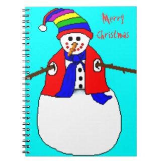 CHRISTMAS SNOWBOOK - XMAS GIFTS - NOTEBOOKS