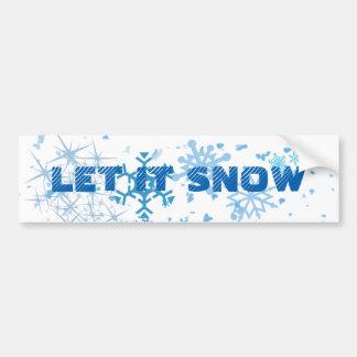 Christmas Snowfall Bumper Sticker