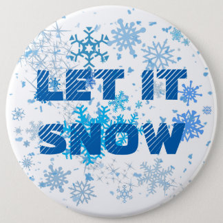 Christmas Snowfall Pinback Button