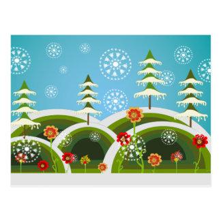 Christmas Snowfall Post Card