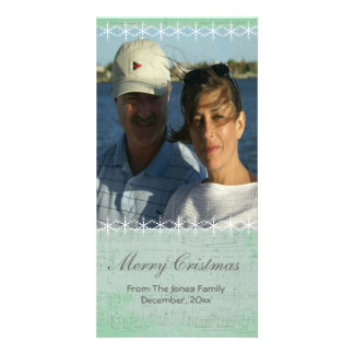 Christmas Snowflake and Vintage Music Photo Card