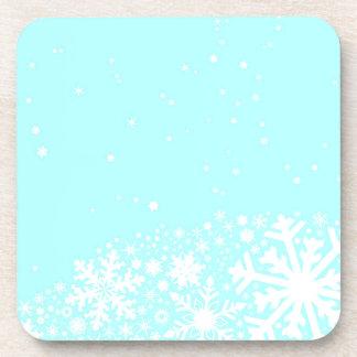 Christmas Snowflake Background Beverage Coaster