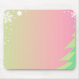 Christmas Snowflake Background Mouse Pad