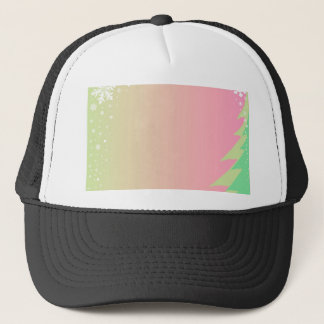 Christmas Snowflake Background Trucker Hat