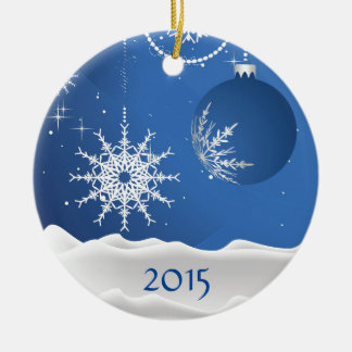 Christmas Snowflake & Ball Ornament Add Name