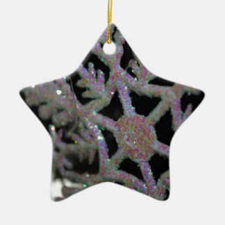 CHRISTMAS SNOWFLAKE CERAMIC ORNAMENT