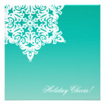 Christmas Snowflake Cocktail Party Invitation