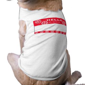 Christmas Snowflake Custom Name Dog 3XL Shirt